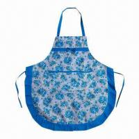 Buy cheap Kitchen Cooking Apron, Made of Cotton, Various Sizes/Patterns are Available from wholesalers
