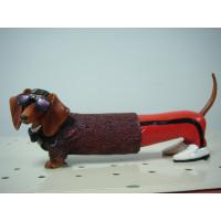 China Cool Glasses Dachshund Polyester Epoxy Resin Crafts Sculpture Artists for Home Decor on sale