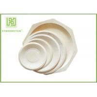 Buy cheap Round White Disposable Wooden Plates bulk For Fruit 5'' 6'' 7'' 8'' Size product