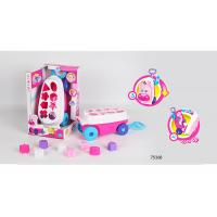 Buy cheap Pink Building Blocks Educational Toys For Kids Age 3 Years / Animal Trolley Cart product