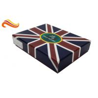 China UK Flag Top and Base Handmade Wallet Apparel Gift Boxes , Customized 1200g Rigid Board Packaging Boxes on sale