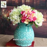 Buy cheap UVG FHY24 wedding decoration materials cheap artificial hydrangea flower for indoor use product
