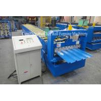 Buy cheap Automatic Roof Sheet Galvanized Steel Roll Forming Machine With 19 Row Rollers product