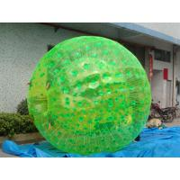 Buy cheap Clear PVC Inflatable Human Ball , Green Body Zorb Water Ball For Park product