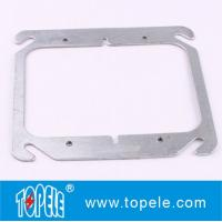 """TOPELE 4"""" FLAT BLANK SQUARE COVER FOR TWO GANG OUTLET BOXES , GALVANIZED STEEL"""