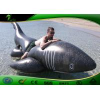 Buy cheap PVC 0.4mm Inflatable Water Toys Black Shark Pool Balloon 3 meters Long ASTM product