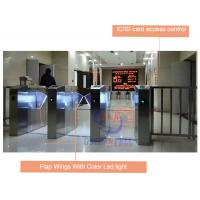 Buy cheap IC / ID Card Access Control Automatic Flap Barrier Gate With Security Infrared Sensor product