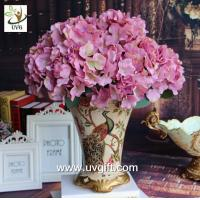 Buy cheap UVG Purple artificial hydrangea flower and geranium making on china market for weddings product