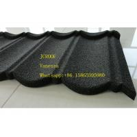 Buy cheap Stone Coated Metal Roof Tile size 1300*420mm Thickness 0.45mm Roman Tile JC109 Green Black product