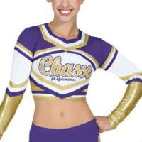 China Customized Sexy Cheerleading Wear Tops with Medalist Metallic Crop on sale