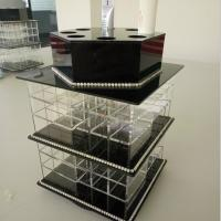Buy cheap Acrylic Makeup Organizer for Cosmetics Compartment Plexiglass Cosmetics Display Case product