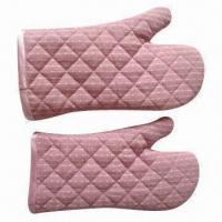 Buy cheap Oven Mitts, Safe, Portable, Insulated, Made of Polyester/Cotton product