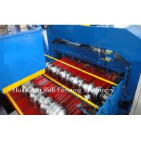 Hydraulic Cr12 Cutting Blades Roofing Step Tile Roll Forming Machine With PLC