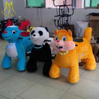 China Hansel  amusement ride  plush rocking scooter with music electronic toys for adults on sale