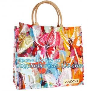 Buy cheap Pvc Travel Biodegradable Shopping Bags Drawstring Handle Handy Women Shopper from wholesalers
