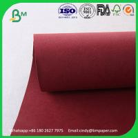 Buy cheap Environment-friendly thcikness 0.55mm  width 150cms   Red Kraft Washable Paper Fabric from wholesalers