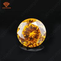 Buy cheap Rose cut yellow gold color round shape cubic zirconia in loose gemstone wholesale product