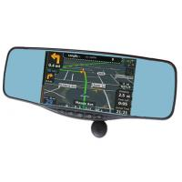 Buy cheap rearview mirror lyrics+Radar detector+bluetooth+gps+speed recorder+backup camera+FCC,CE,ROHS product