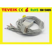 Buy cheap Arrow One piece 5 leads ECG cable with clip IEC with 1K ohm for round 12pin product