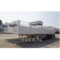 Buy cheap TITAN Side Wall Fence Flatbed Semi Trailer with 60 ton loading capacity product
