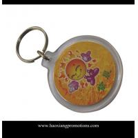 Quality Latest Customized Your Own Logo Design Plastic Acrylic Keychain for sale