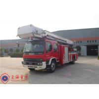 Buy cheap Six Seats Aerial Ladder Fire Truck New Generation Gross Weight 16000kg product