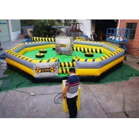 Buy cheap Commercial Meltdown Mechanical Inflatable Wipe Out With 0.55mm PVC Tarpaulin product