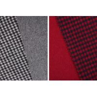 Buy cheap STOCK Houndstooth 70% Wool 30% Polyester Double Faced Fleece Fabric For Coats product