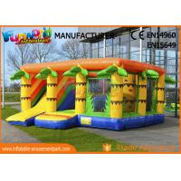 Buy cheap durable Inflatable Amusement Park Climbing Wall Jungle Bouncer With Slide 6.8 * from wholesalers