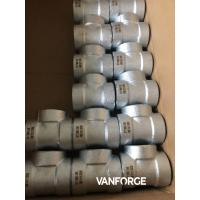 Buy cheap Forged Steel Pipe Fittings ANSI / ASME Socket Weld Tee Smooth Finish product