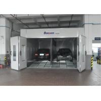 Combined Inner Ramp Downdraft Spray Booth , Custom Paint Booth With LED Riello Burner