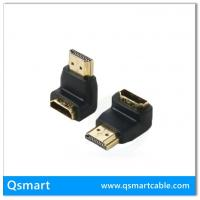 QS AD002,QSMART  Gold plated HDMI Right Angle Connectors 90 Degree Adapters