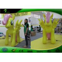 Buy cheap Outdoor Holiday Inflatables Yellow Little Horse With LED Light 1.5m Tall product