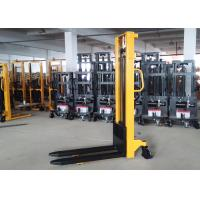 Buy cheap Mast Steel Manual Pallet Stacker Adjustable Forks With Integral Pump product