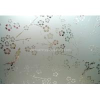 China Clear Float Curve Acid Etched Glass 4mm 5mm 6mm For Curtain Walls And Bathroom on sale