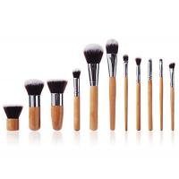Buy cheap Handmade Face Bamboo Makeup Brushes Natural  Bristle With Hot Stamping Logo from wholesalers