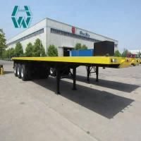 Buy cheap Mechanical Suspension Low Bed Semi Trailer Complete Chassis Sand Blasting product