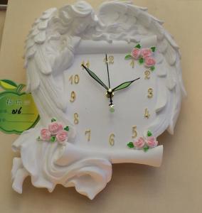 Gypsum wall lamp- Girl's Book & Clock