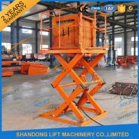 Buy cheap Small Electric Type Portable Hydraulic Fixed Mechanical Scissor Lift 1T - 30T Load Capacity product