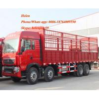Buy cheap Red 1.3 Axles  Semi Trailer Trucks  High Coloumn Cargo Trailer from wholesalers