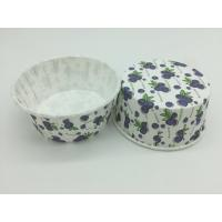 Buy cheap Grape Pattern PET Baking Cups Food Grade Paper Material 75-40mm Varous Size product