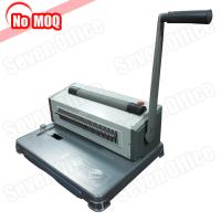 Buy cheap 3 Years warranty desktop Manual perfect spiral binding machine for 46 loops coil product