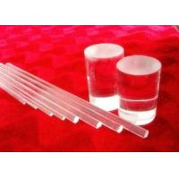 Buy cheap Light Guide Optical Solid Pure Quartz Glass Rod High Strong Hardness from wholesalers