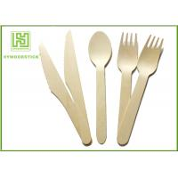Buy cheap Biodegradable Eco Friendly Disposable Tableware Wooden Cultery Set Spoon Fork Knife product