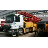 Buy cheap 300 Kw Used Concrete Pump Truck Mounted Concrete Pump With Benz Truck Chassis product