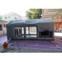 China Air Sealed Frame Inflatable Spray Paint Booth Tent For Car Washing on sale