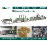 China Waved chips , Potato chips Snack Extruder Machine , 3D Snack Pellet Machinery on sale