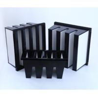 Buy cheap MERV16 V Bank Cell HEPA Media Filter With ABS Plastic Frame 14sqm Area product