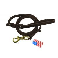 Buy cheap Brown Braided Leather Dog Leash Lead Handmade For Hunting Training Dogs product