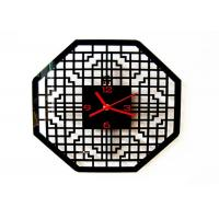 China Custom Quartz Analog Acrylic Wall Clock Home Decor , Octagon Islam Window Shape on sale